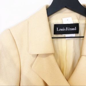 Vintage Louis Feraud Pale Yellow Blazer